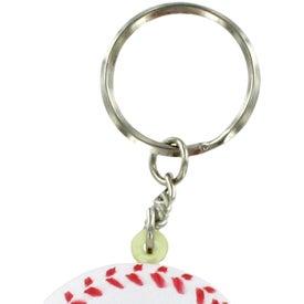 Imprinted Baseball Stress Reliever Keyring