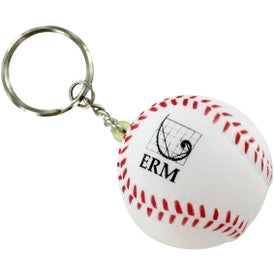 Baseball Stress Reliever Keyrings
