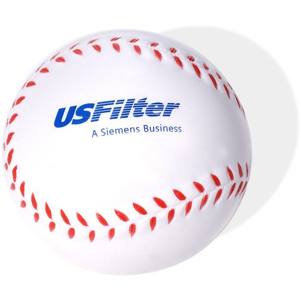 White Squeezable Baseball Stress Reliever