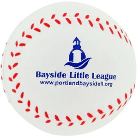 Promotional Baseball Stress Toy