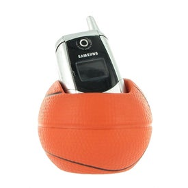 Basketball Cell Phone Holder Stress Ball for Advertising