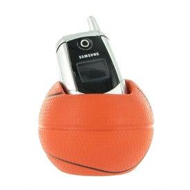 Basketball Cell Phone Holder Stress Ball for Advertising