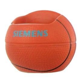 Custom Basketball Cell Phone Holder Stress Ball