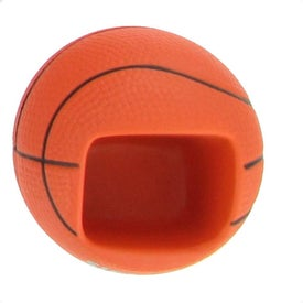 Basketball Cell Phone Holder Stress Ball Printed with Your Logo