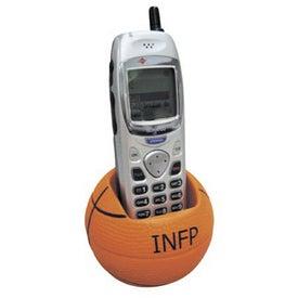 Basketball Cell Phone Holder Stress Ball