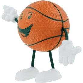 Basketball Figure Stress Ball Printed with Your Logo