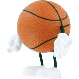 Advertising Basketball Figure Stress Ball