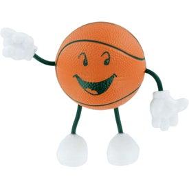 Basketball Figure Stress Ball for Advertising