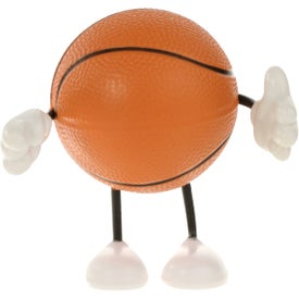 Basketball Figure Stress Ball with Your Slogan
