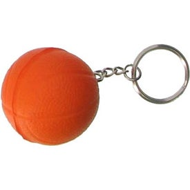 Company Basketball Key Chain Stress Ball