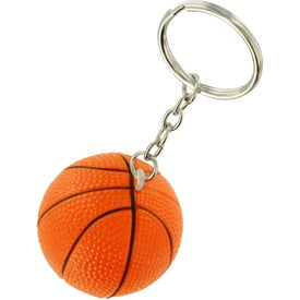 Logo Basketball Key Chain Stress Ball
