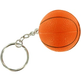 Branded Basketball Key Chain Stress Ball