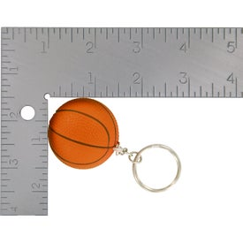 Printed Basketball Key Chain Stress Ball