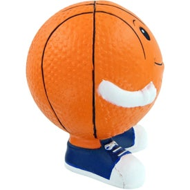 Basketball Man Stress Toy Imprinted with Your Logo