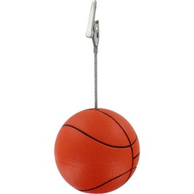 Basketball Memo Holder Stress Ball Giveaways