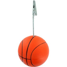 Personalized Basketball Memo Holder Stress Ball