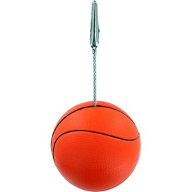 Basketball Memo Holder Stress Ball
