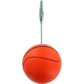 Basketball Memo Holder Stress Ball