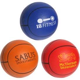 Basketball Slo-Release Serenity Squishy Stress Ball