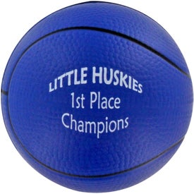 Basketball Stress Ball with Your Slogan