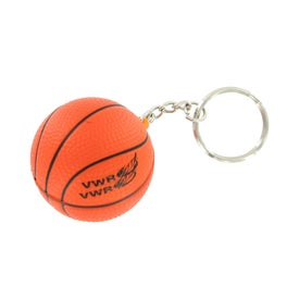 Personalized Basketball Stress Reliever Keyring