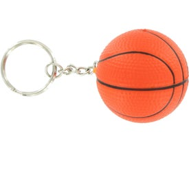 Advertising Basketball Stress Reliever Keyring