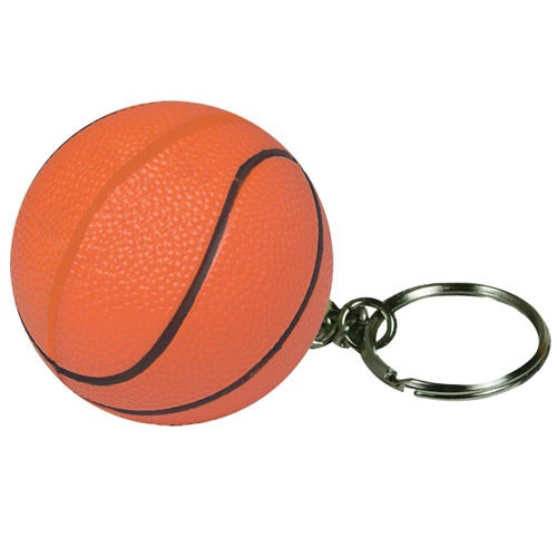Orange Basketball Stress Reliever Keyring