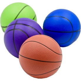 Imprinted Basketball Stress Toy