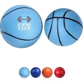 Printed Basketball Stress Ball