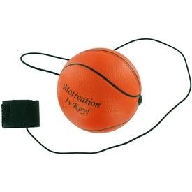 Imprinted Basketball Stress Ball Yo Yo