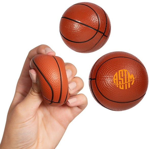 Orange Basketball Super Squish Stress Reliever