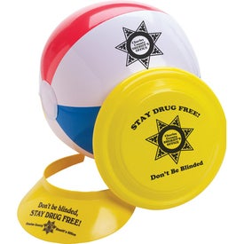 Beach Ball Flyer Visor Fun Kit