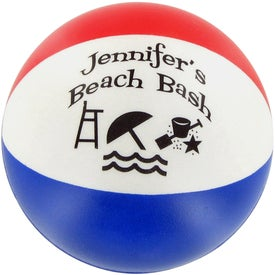 Round Beach Ball Stress Ball for Advertising
