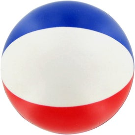 Round Beach Ball Stress Ball for Your Organization