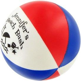 Branded Round Beach Ball Stress Ball