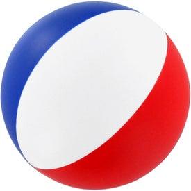 Logo Round Beach Ball Stress Ball