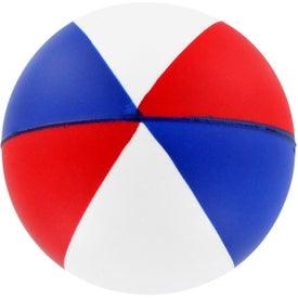 Imprinted Round Beach Ball Stress Ball