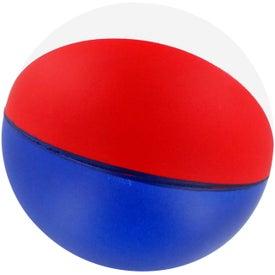 Branded Custom Beach Ball Stress Ball