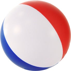 Round Beach Ball Stress Ball with Your Slogan
