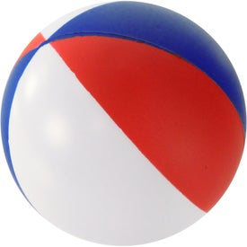 Round Beach Ball Stress Ball for your School