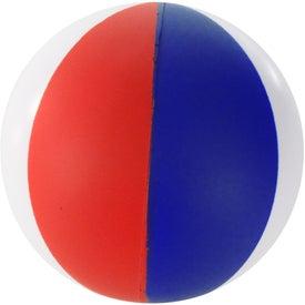 Round Beach Ball Stress Ball for Marketing
