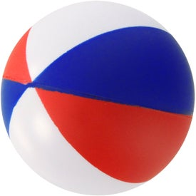 Round Beach Ball Stress Ball Printed with Your Logo