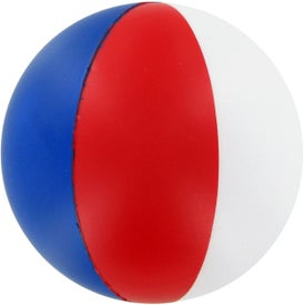 Beach Ball Stress Ball (White/Blue/Red)
