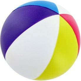 Monogrammed Beach Ball Stress Toy