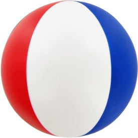 Monogrammed Beach Ball Stress Toy