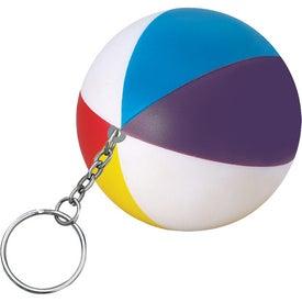 Advertising Beach Ball Key Chain Stress Ball