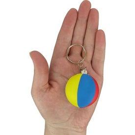 Branded Beach Ball Key Chain Stress Ball