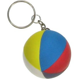 Beach Ball Key Chain Stress Ball for Promotion