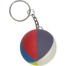 Beach Ball Key Chain Stress Ball for Your Organization