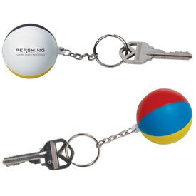 Beach Ball Key Chain Stress Ball (Economy)